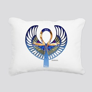 Ankh Scarab Rectangular Canvas Pillow